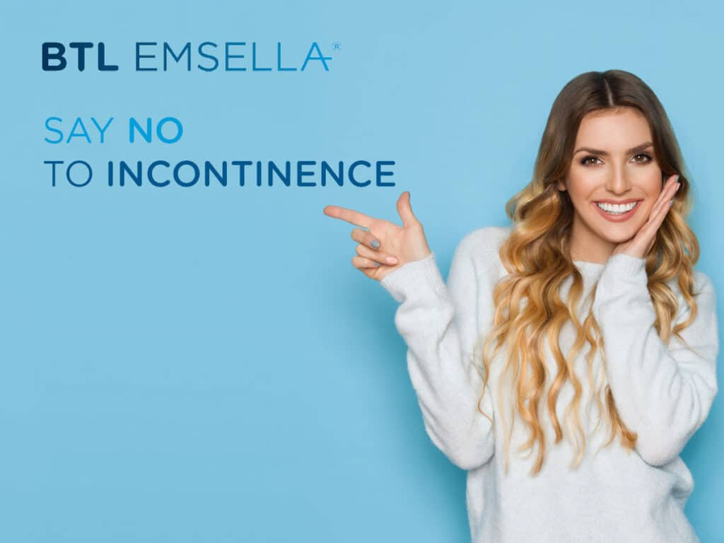 Sag Nein zur Inkontinenz Slogan